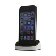 Dock (dokovací stanice) pro Apple iPhone 5 / 5S / SE - bílo-černá
