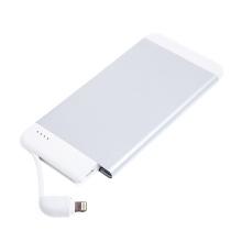 Externí baterie / power bank IDMIX - MFi certifikovaná - 4100 mAh - Lightning - vstup Micro USB - stříbrná