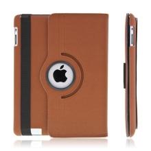 360° otočný ochranný kryt a držák pro Apple iPad 2. / 3. / 4.gen. - hnědý