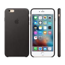 Originální kryt pro Apple iPhone 6 Plus / 6S Plus - kožený - černý