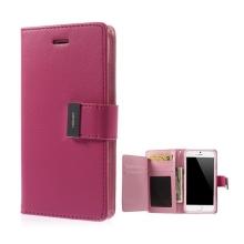 Pouzdro Mercury ve stylu peněženky s magneticky uzavíracím klipem pro Apple iPhone 6 Plus / 6S Plus - růžové