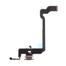 Napájecí a datový konektor s flex kabelem + GSM anténa + mikrofony pro Apple iPhone Xs - zlatý - kvalita A+
