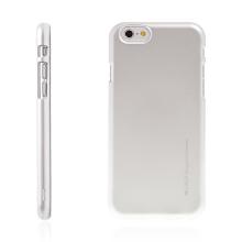 Kryt Mercury iJelly pro Apple iPhone 6 / 6S gumový stříbrný