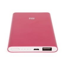 Externí baterie / power bank XIAOMI - 5000 mAh - USB-A 2,1A - vstup Micro USB - růžová