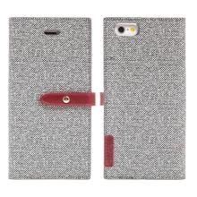 Pouzdro Mercury Milano Diary pro Apple iPhone 6 / 6S - látková textura - šedé