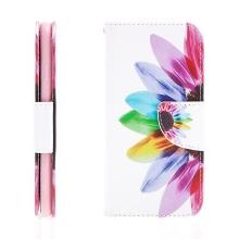 Pouzdro / kryt pro Apple iPhone 7 / 8 - prostor pro doklady / stojánek - barevná květina