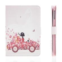 Pouzdro / kryt pro Apple iPad mini / mini 2 / mini 3 - integrovaný stojánek - dívka v autě
