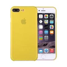Kryt / obal pro Apple iPhone 7 Plus / 8 Plus chrana čočky - plastový / tenký - žlutý