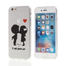 Kryt pro Apple iPhone 6 / 6S gumový - průhledný - I will grow up