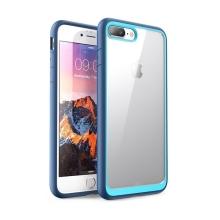 Kryt pro Apple iPhone 7 Plus / 8 Plus - odolné hrany - plastový / gumový - průhledný / modrý