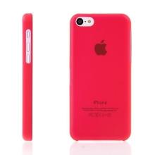 Ultra tenký ochranný kryt pro Apple iPhone 5C (tl. 0,3 mm) - plastový - matný - červený