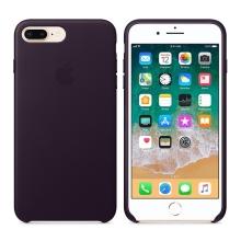 Originální kryt pro Apple iPhone 7 Plus / 8 Plus - kožený - lilkově fialový