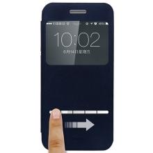 Ochranné pouzdro BASEUS se stojánkem a průhledným prvkem / výřezem na displej pro Apple iPhone 6 / 6S - tmavě modré
