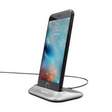 Dock / Dokovací stanice BASEUS pro Apple iPhone - konektor Lightning - stříbrná