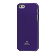 Gumový kryt Mercury pro Apple iPhone 5 / 5S / SE - jemně třpytivý - fialový