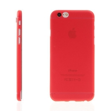 Ultra tenký plastový kryt pro Apple iPhone 6 / 6S - s prvkem pro ochranu skla kamery - červený