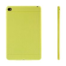 Gumový kryt / pouzdro pro Apple iPad mini 4 - tečkovaný - žlutý