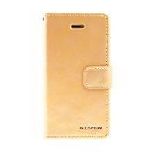 Pouzdro MERCURY Blue Moon Diary pro Apple iPhone 5 / 5S / SE - umělá kůže - zlaté
