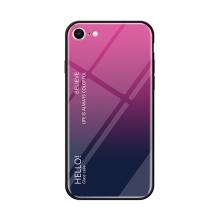 Kryt pro Apple iPhone 7 / 8 - sklo / guma - růžový