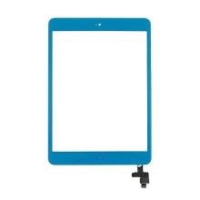 Dotykové sklo (touch screen digi) + IC konektor a flex s Home Buttonem pro Apple iPad mini / mini 2 (Retina) - modré
