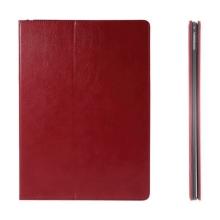 Pouzdro pro Apple iPad Pro 12,9 - integrovaný stojánek a prostor na doklady - červené