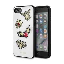 Kryt GUESS Iconic pro Apple iPhone 7 / 8 - plastový / gumový - bílý