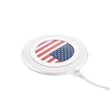 Bezdrátová nabíječka / nabíjecí podložka Qi Standard - vlajka USA