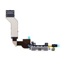 Flex kabel + mikrofon + napájecí a datový konektor pro Apple iPhone 4S - bílý - kvalita A