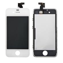 Náhradní LCD panel včetně dotykového skla (digitizéru) pro Apple iPhone 4S - bílý - kvalita A+