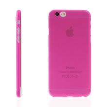 Ultra tenký plastový kryt pro Apple iPhone 6 / 6S - s prvkem pro ochranu skla kamery - růžový