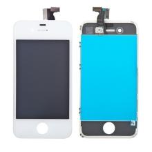 Náhradní LCD panel včetně dotykového skla (digitizéru) pro Apple iPhone 4 - bílý - kvalita A+