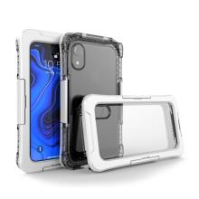 Pouzdro pro Apple iPhone Xr - voděodolné - plast / silikon - průhledné / bílé