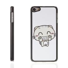Kryt pro Apple iPod touch 6.gen. plastový bílý - veselá kočka