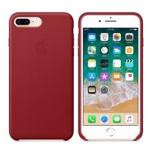 Originální kryt pro Apple iPhone 7 Plus / 8 Plus - kožený - červený