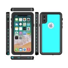 Pouzdro Redpepper pro Apple iPhone X - voděodolné - plastové - černé / světle modré