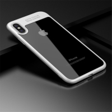 Kryt IPAKY pro Apple iPhone X - plastový / gumový - průhledný / bílý