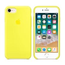 Originální kryt pro Apple iPhone 7 / 8 - silikonový - zářivě žlutý