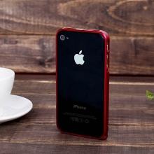 Ochranný ultra tenký hliníkový rámeček / bumper LOVE MEI (tl. 0,7 mm) pro Apple iPhone 4 / 4S - červený