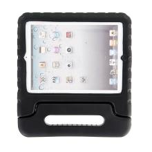 Ochranné pěnové pouzdro pro děti na Apple iPad 2. / 3. / 4.gen. s rukojetí / stojánkem - černé