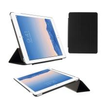 Pouzdro / obal pro Apple iPad Air 2 - funkce uspání a probuzení / stojánek / výřez pro logo - černé