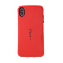 Kryt iFACE pro Apple iPhone Xs Max - plastový / gumový - černý / červený