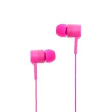 Sluchátka SWISSTEN pro Apple zařízení - špunty - ovládání + mikrofon - plast - růžová