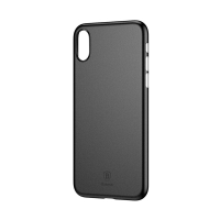 Kryt BASEUS pro Apple iPhone X - ultratenký - plastový - černý