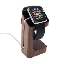 Dřevěný nabíjecí stojánek pro Apple Watch 38mm / 42mm Series 1 / 2 / 3 - tmavý