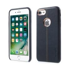 Kryt VORSON pro Apple iPhone 7 / 8 umělá kůže / výřez pro logo - tmavě modrý