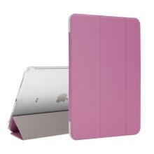 """Pouzdro / kryt pro Apple iPad Pro 11"""" (2018) - funkce chytrého uspání + stojánek - růžové / průsvitná záda"""