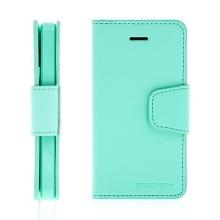 Vyklápěcí pouzdro Mercury Sonata Diary pro Apple iPhone 5 / 5S / SE se stojánkem a prostorem na osobní doklady - světle zelené