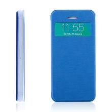 Flipové pouzdro pro Apple iPhone 5 / 5S / SE s průhledným prvkem / výřezem pro displej - modré