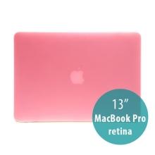 Obal / kryt pro Apple MacBook Pro 13 Retina (model A1425, A1502) - tenký - plastový - matný - růžový