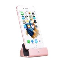 Dock / dokovací stanice HOCO CPH18 s Lightning kabelem pro Apple iPhone / iPod - růžově zlatá (Rose Gold)
